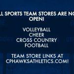 CPHS Fall Sports Team Stores