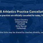 CPHS Athletics Practice Cancellations – February 12, 2021