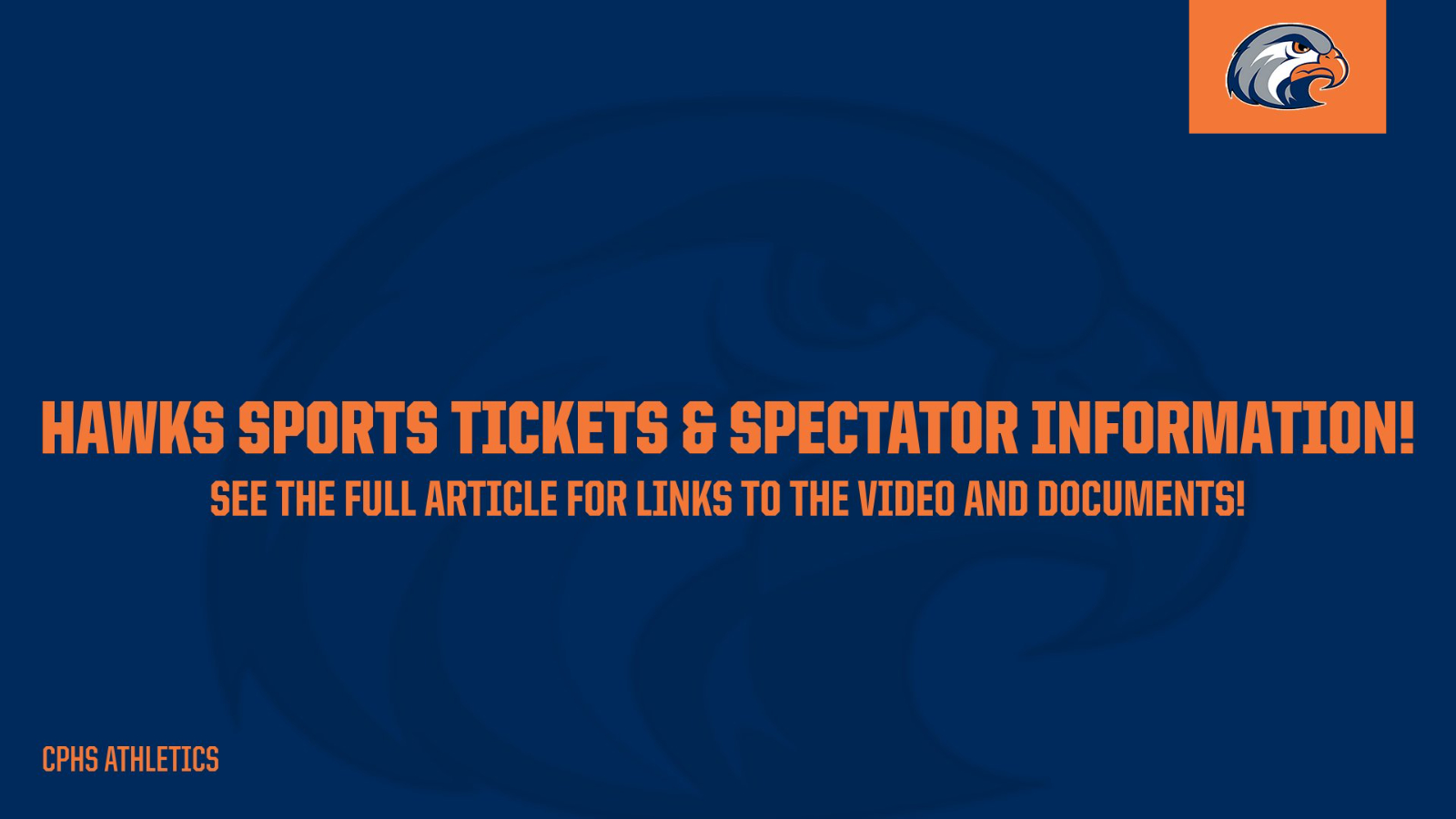 CPHS Sports Tickets and Spectator Information