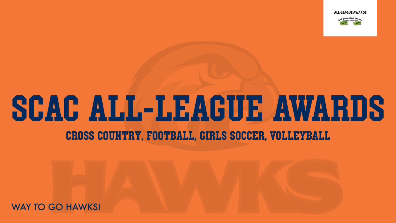 Hawks Fall Athletes Represent in SCAC All League!