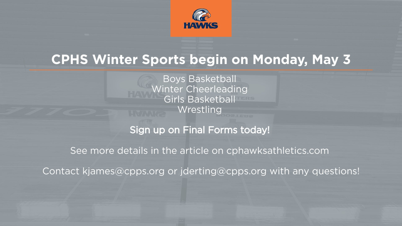 CPHS Winter Sports (Season 3) Information