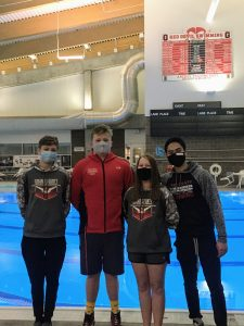 Coach says swim team awesome today at home meet