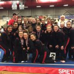 Canton High School Girls Varsity Gymnastics finishes 1st place