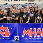 Canton High School Girls Varsity Gymnastics finishes 2nd place