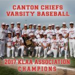 Canton Baseball 2017 KLAA Association Champions