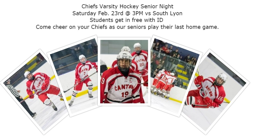 Chiefs Varsity Hockey Senior Night – Feb. 23, 2019