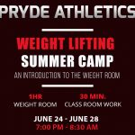 Weight Lifting – Summer Camp