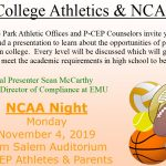 NCAA Night @ PCEP – Nov 4th, 2019