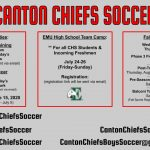 Chiefs Boys Soccer 2020 Fall Registration and Summer Activities