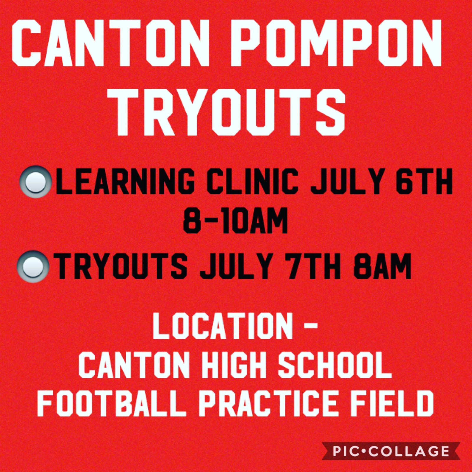 Come join your 2020 State Championship Pompon Teams