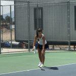 Girl's Tennis Battles Park City