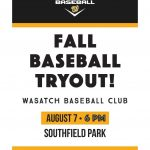 Youth Baseball Club Tryout info: