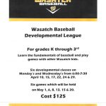 REGISTER for Wasatch Developmental League here!