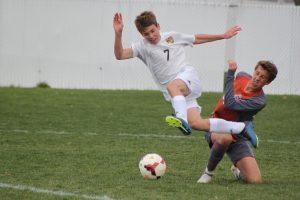 Freshman boys soccer lose a close one at Skyridge 1-2. 4.12.9