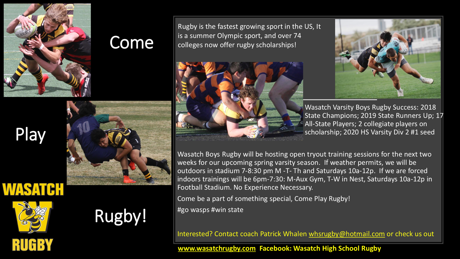 Wasatch High School Rugby tryouts