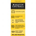 Important announcement from Wasatch Athletics…