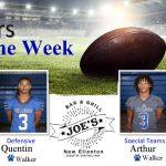 Week 5: Joe's Grill Players of the Week