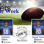 Week 7: Joe's Grill Players of the Week