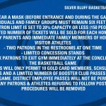 SBHS Basketball Gym Guidelines 2020-21