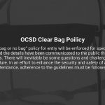 Lower State: OCSD Clear Bag Policy