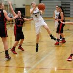 Double-Double-Double! Rose Leads Girls Basketball to Second Win Over Churchill