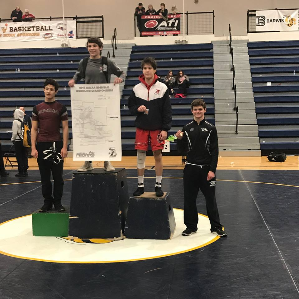 Wildcat Grappler, Tyler Campbell, Qualifies for the MHSAA Wrestling Individual Championships