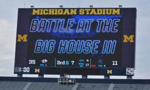 Plymouth Football vs. Stevenson at Michigan Stadium 8/24/18
