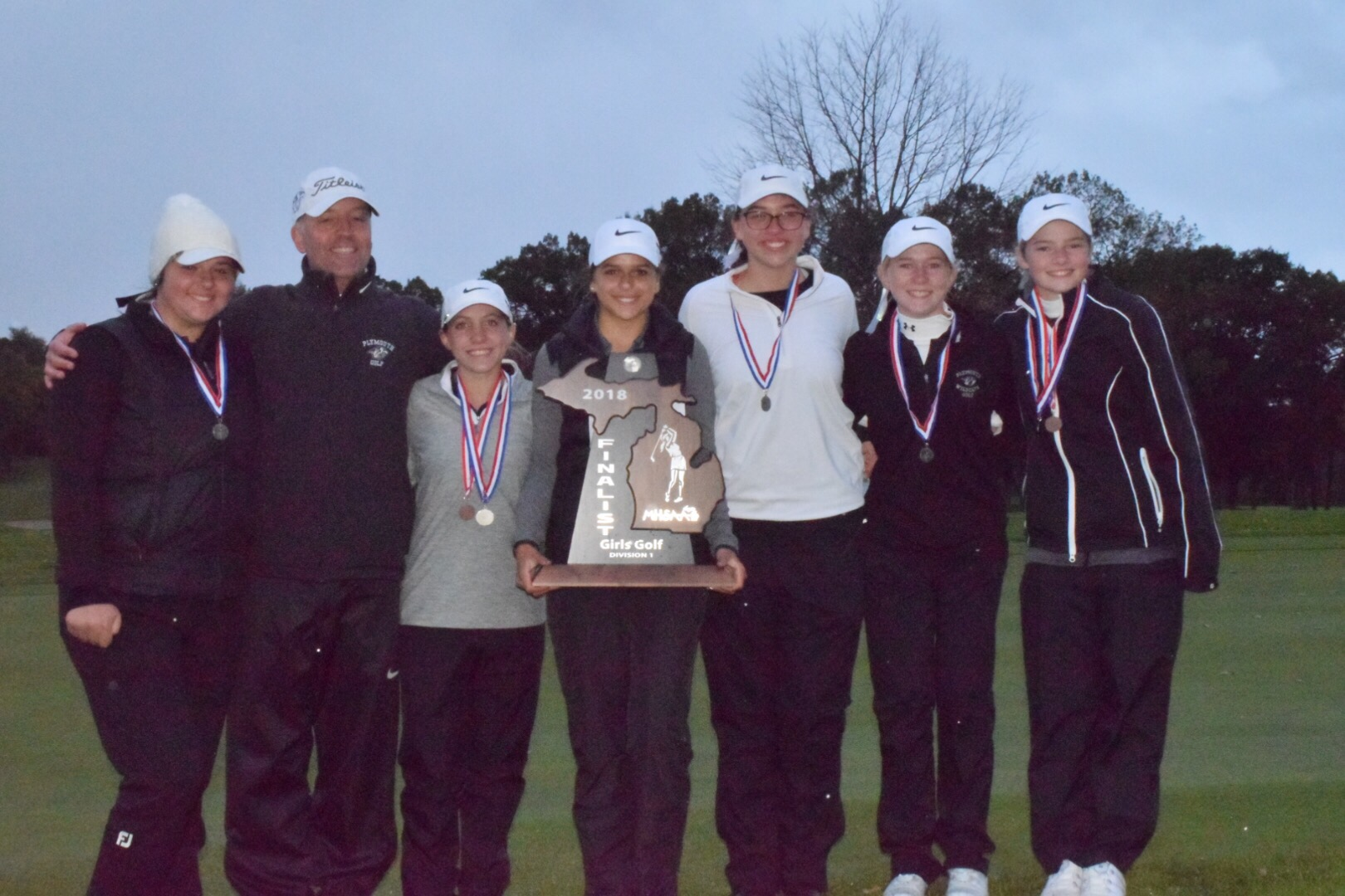 Plymouth Girls Golf Finishes 2nd at MHSAA State Finals