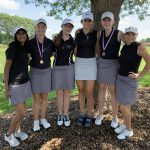 Girls Varsity Golf finishes in 3rd place at Huron Meadows golf course.