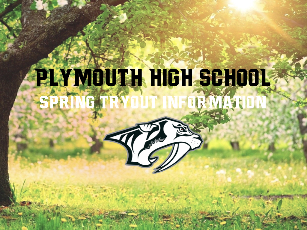 Plymouth Athletics 2021 Spring Tryout Information