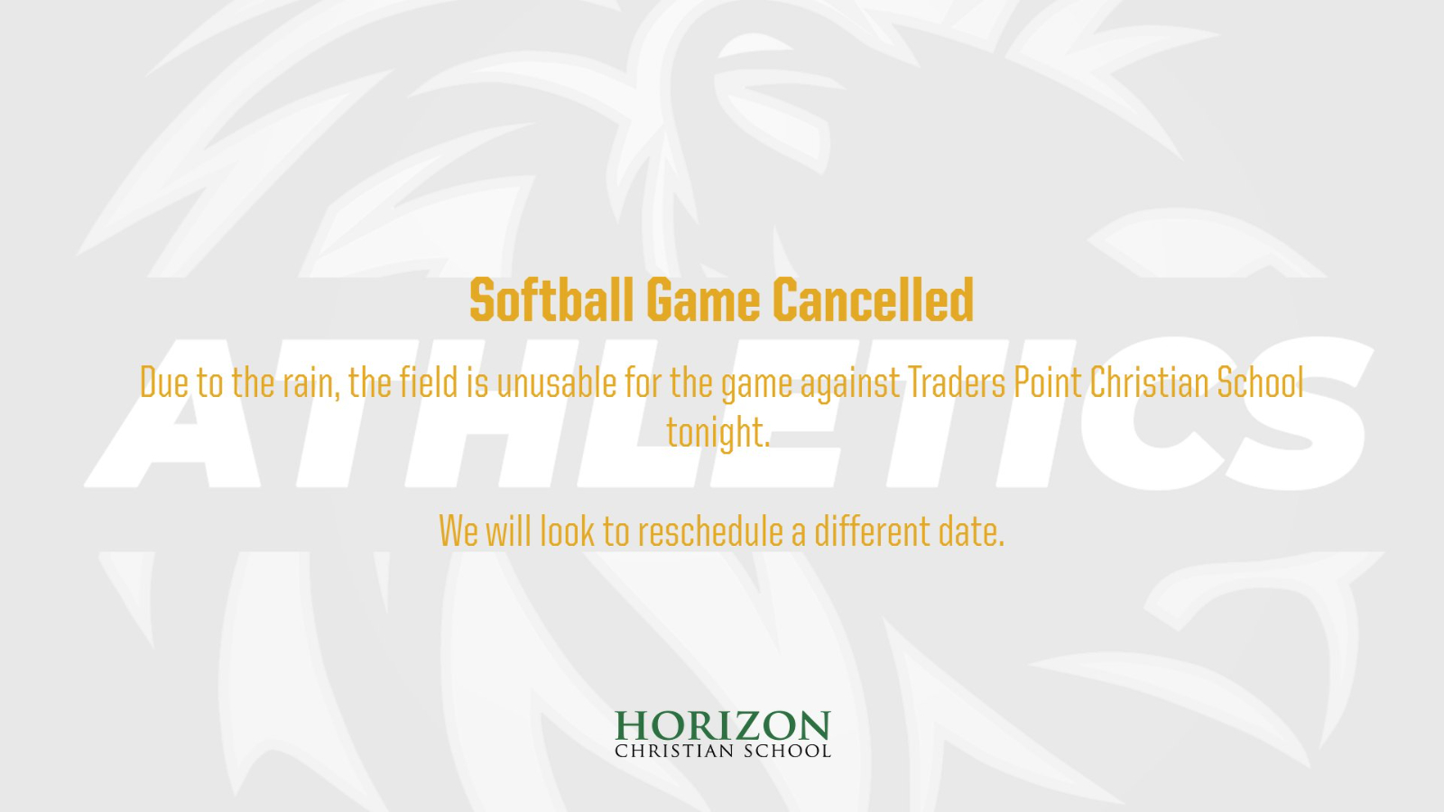 Softball Game Cancelled