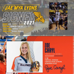 Jae'mya Lyons and Zoe Caryl Sign