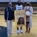 Lady Trojans Roll and Canady Honored