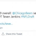 Bears make Jenkins highest NFL draft pick in Shawnee Co. history