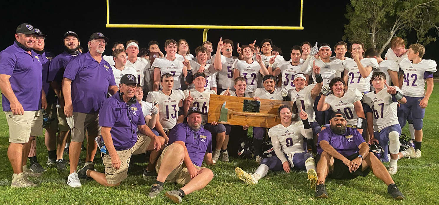 Football Team Wins the Battle of the AXE over Parker