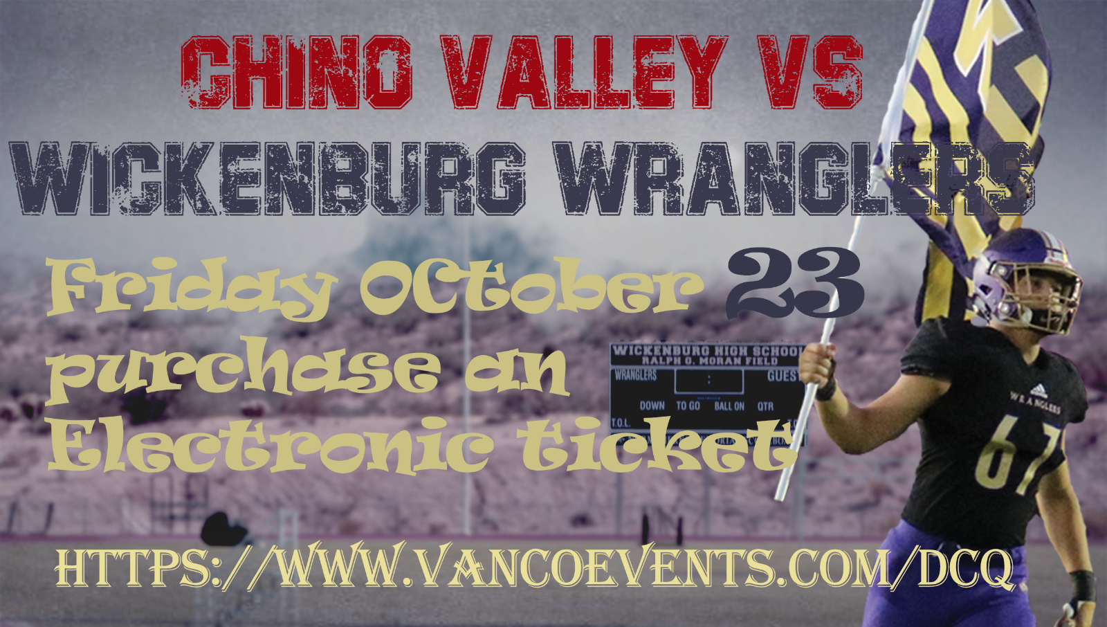 Purchase Electronic Tickets for Home Football Game Against Chino Valley