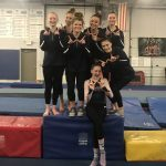 Girls Varsity Gymnastics finishes 1st place at Quad Meet
