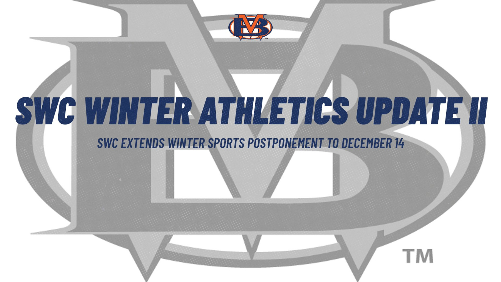 SWC Extends Winter Sports Postponement to December 14th