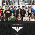 East Athletes Recognized At Spring College Signing Event