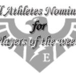 Fall Athletes Up for Players of the Week!!