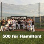 Coach Hamilton Hits Win #500!!