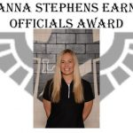 Janna Stephens Earns Special Officials Award