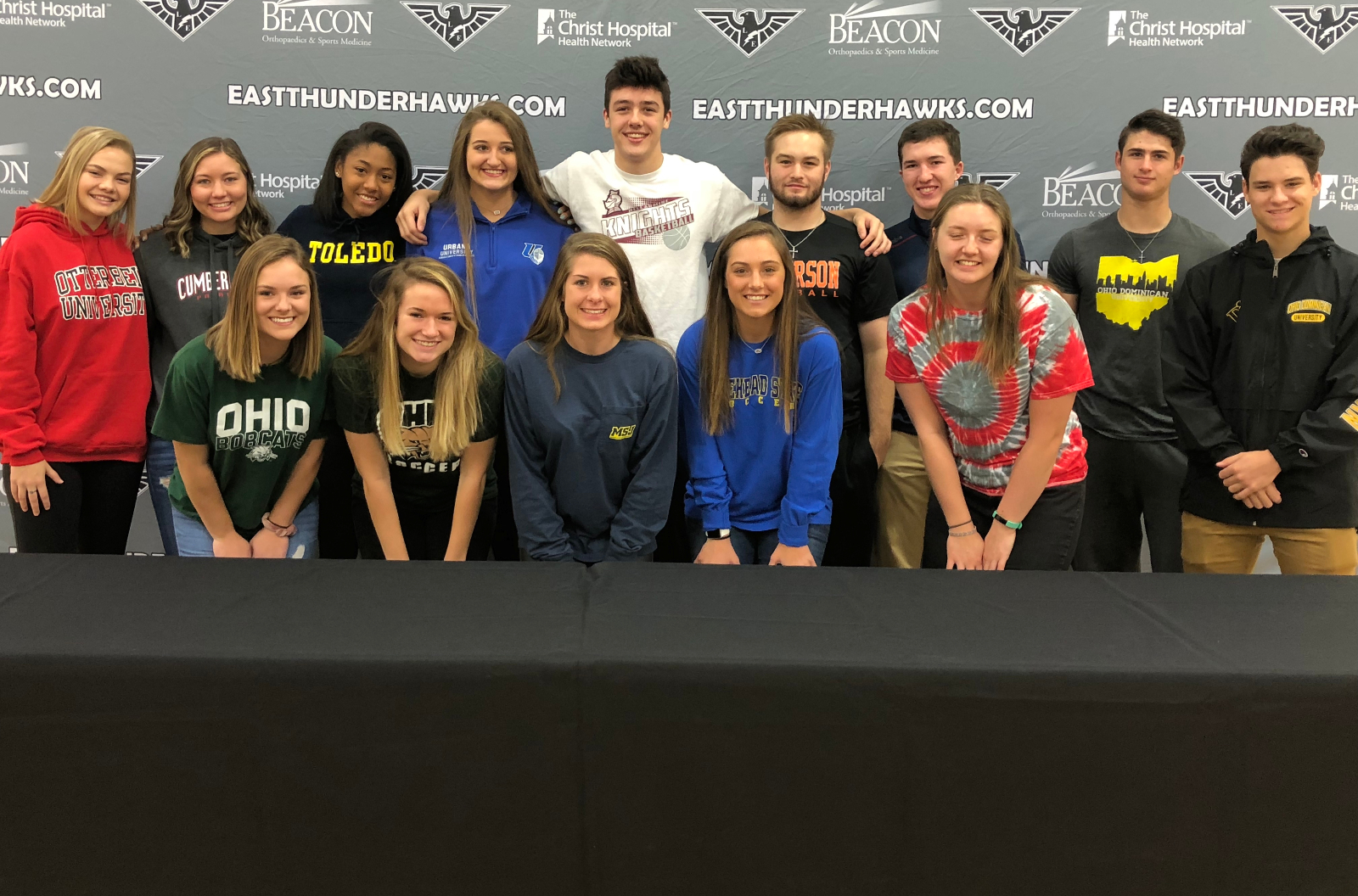 East Celebrates Our Fall College Athletics Signings