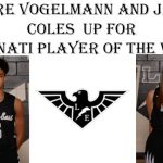 VOTE FOR CLAIRE VOGELMANN & JADON COLES AS PLAYERS OF THE WEEK!!