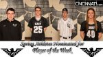 Spring Athletes Nominated for Player of the Week!!!