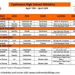 CHS Athletics: Weekly Schedule (April 19-24)