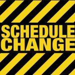 Saturday's Tennis Matches Rescheduled