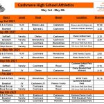 This Weeks Athletic Events (May 3-8)