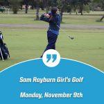 Sam Rayburn Girl's Golf Action