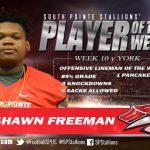Offensive Lineman of the Week v. York #51 Keshawn Freeman